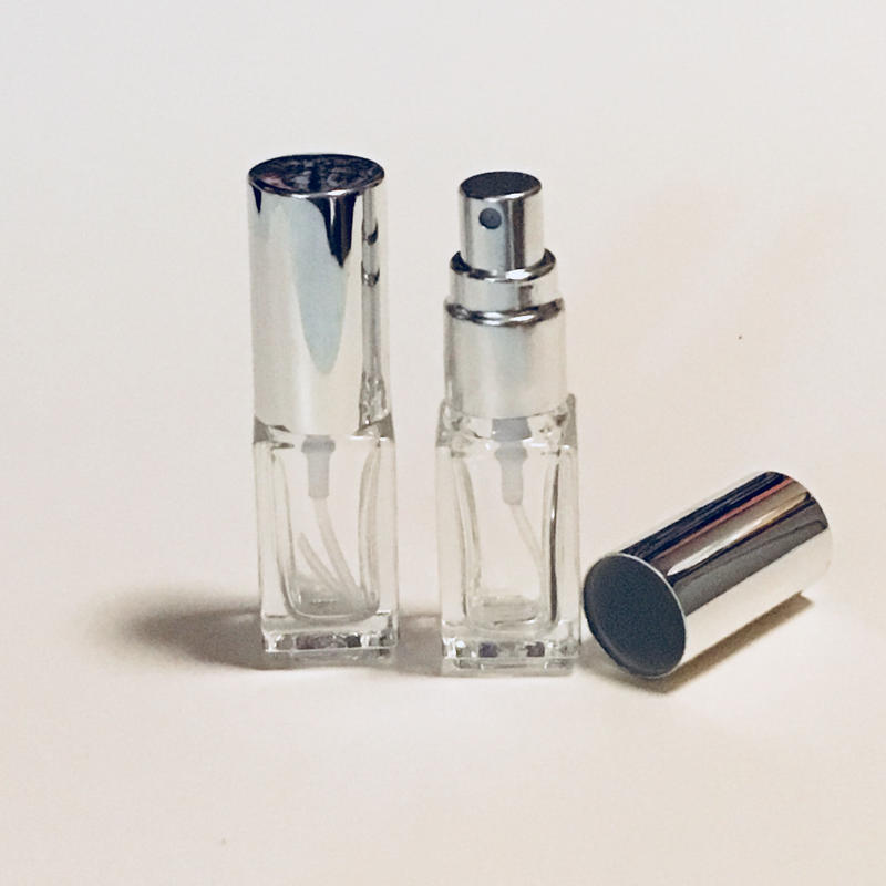 6月限定ラッキーセールGSS-711-040 1/8 oz. スクエアガラスアトマイザー シルバーキャップ5個セット