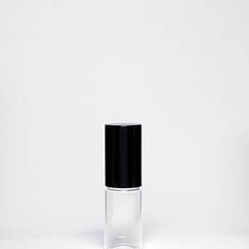 3mlガラスロールオンボトル(ブラックキャップ)5個セット