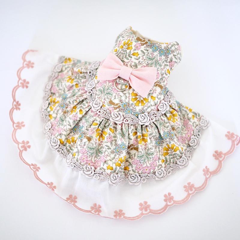 小花柄・ピンク ハーネス
