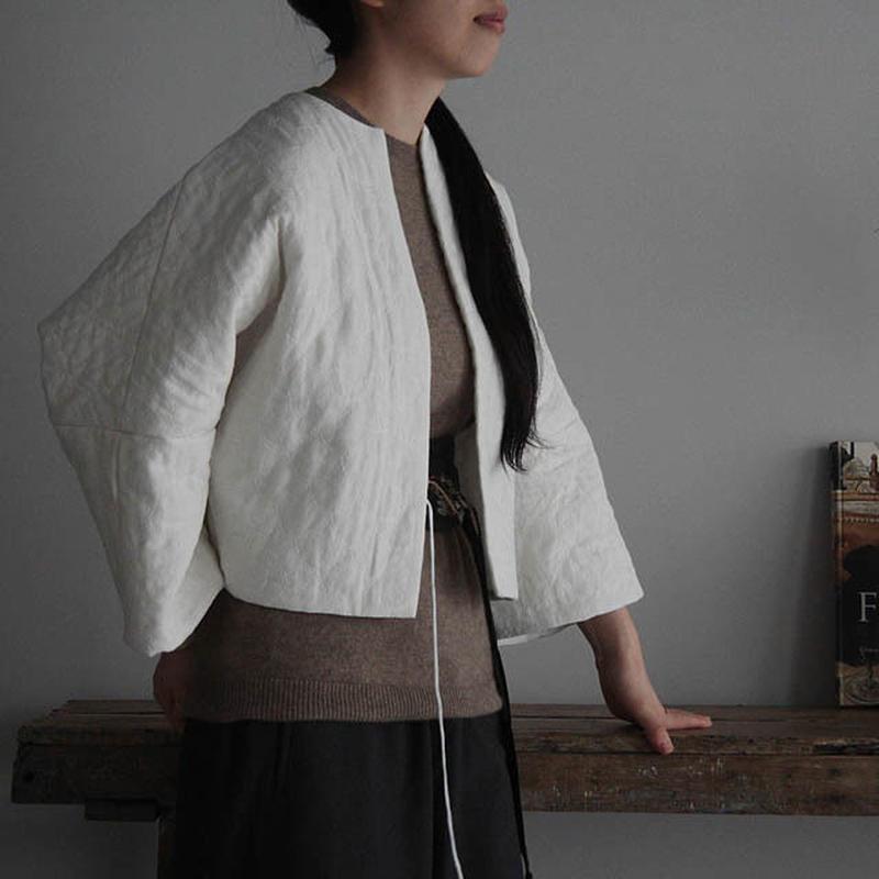 TOWAVASE linen quilt jacket  (white)