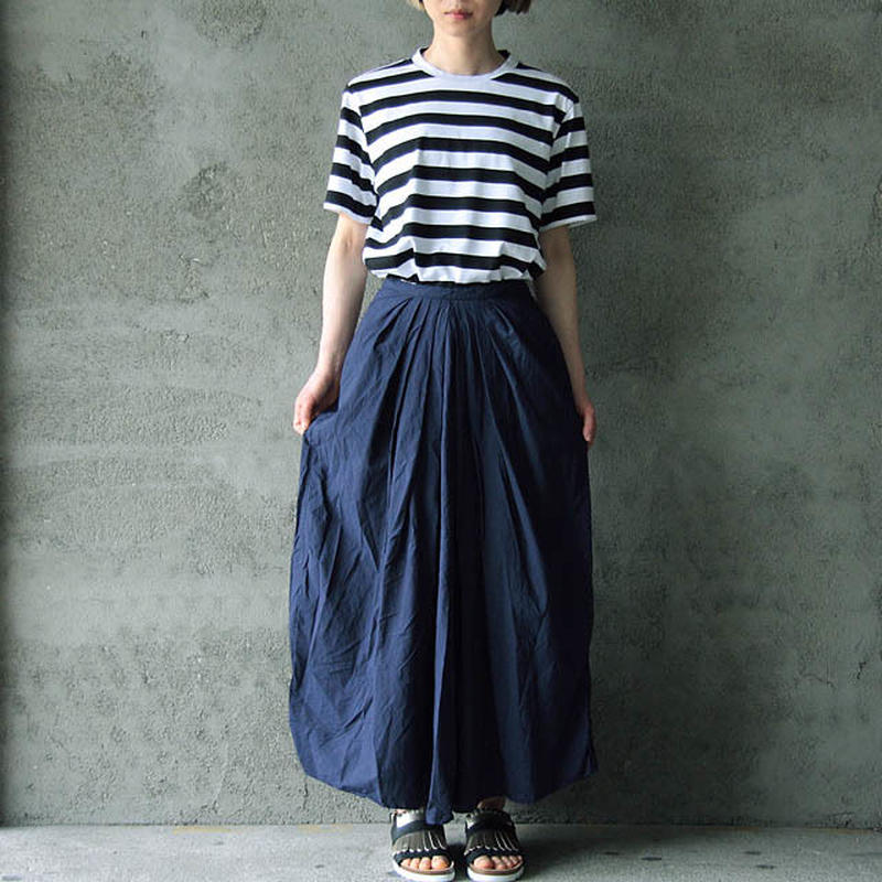 COMMONO reproducts gathered skirt navy