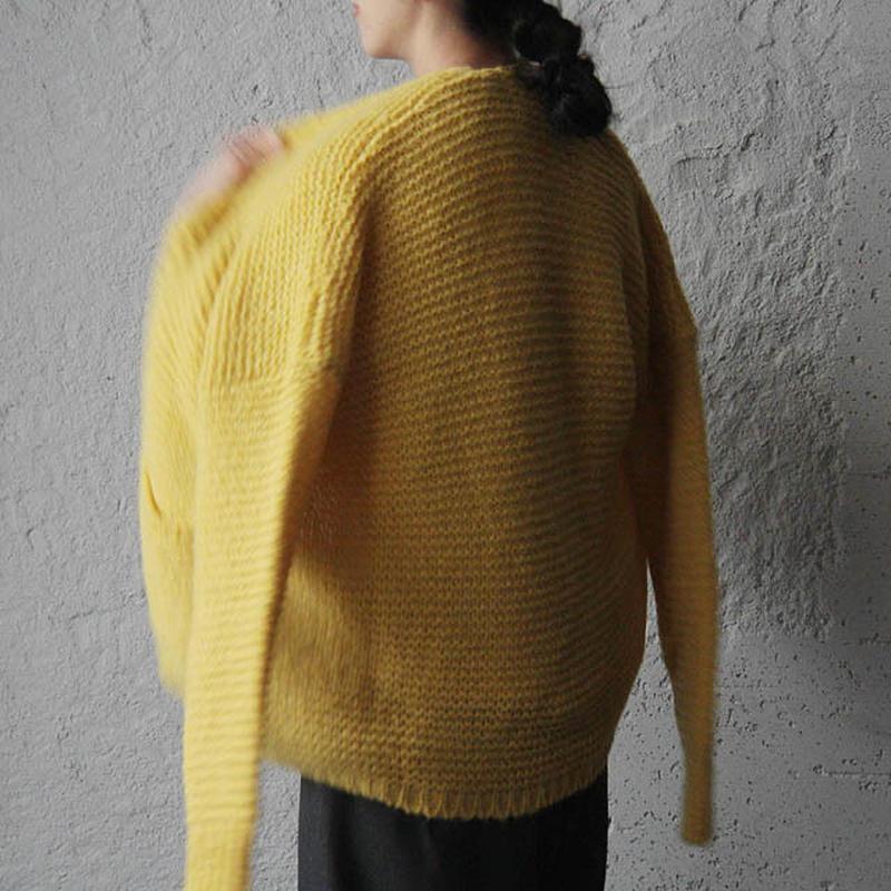 MAISON ANJE knit cardigan yellow
