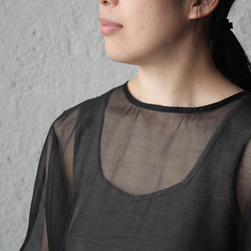 Tabrik  cotton silk onepiece (black)