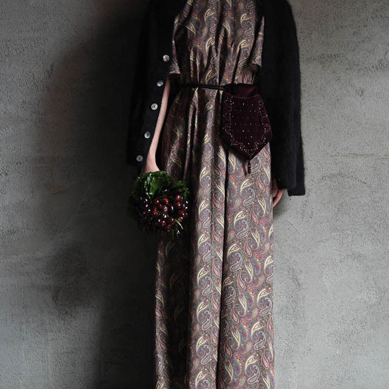 NOTA bell sleeve dress + purse  paisley