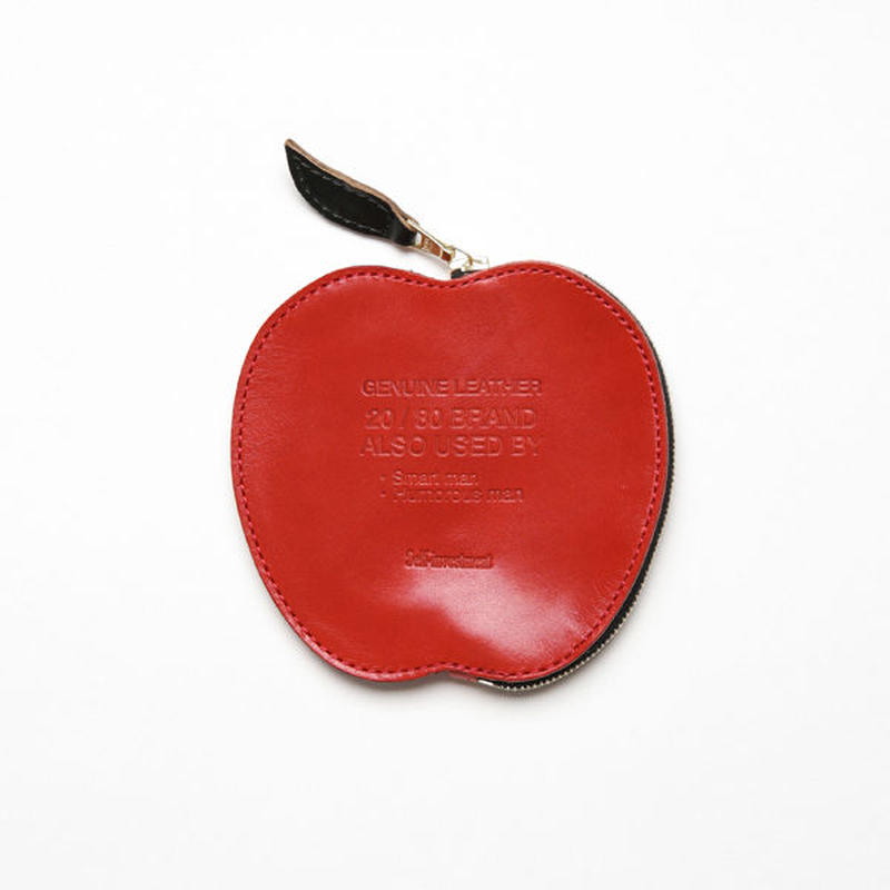 20/80トゥエンティーエイティー/ HORWEEN LEATHER APPLE COIN CASE/RD