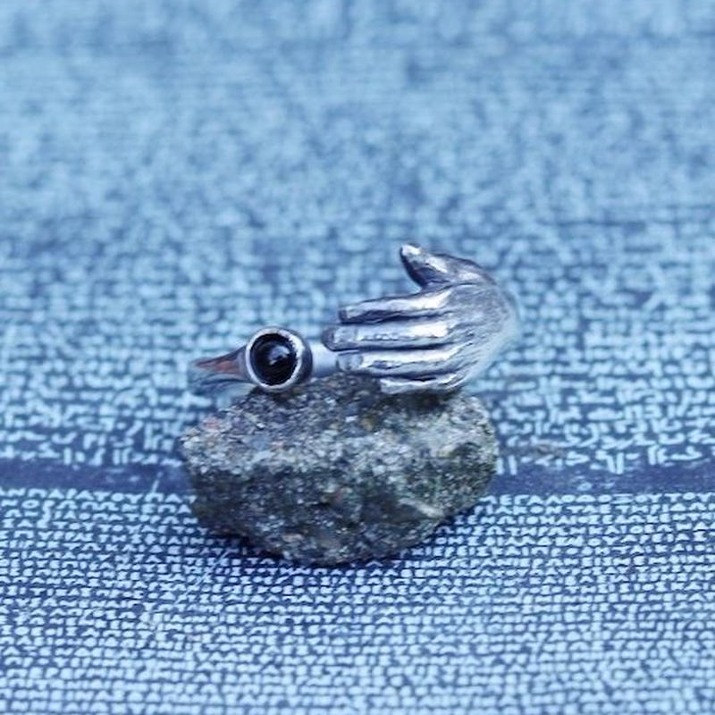 TIME   Hand Stone Ring(SILVER)