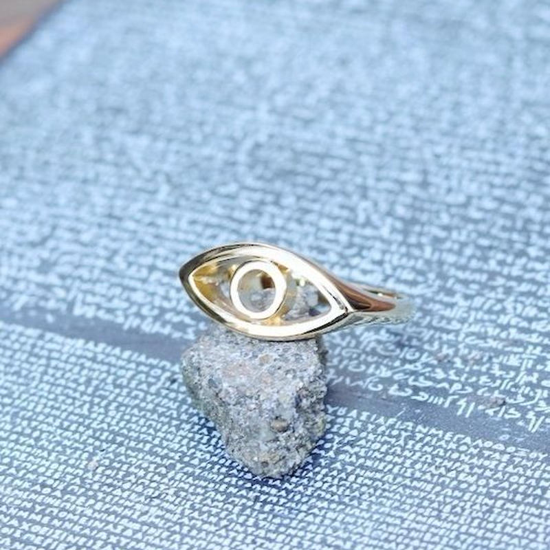 TIME   Eyes Ring ( GOLD)