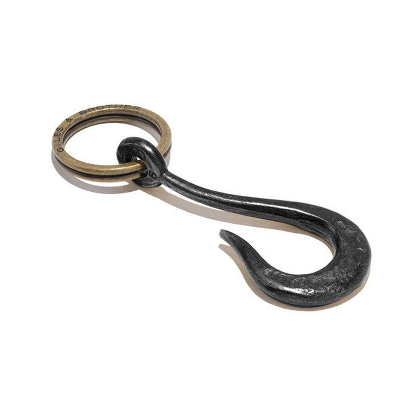 G&B - Hook Keyring Hematite