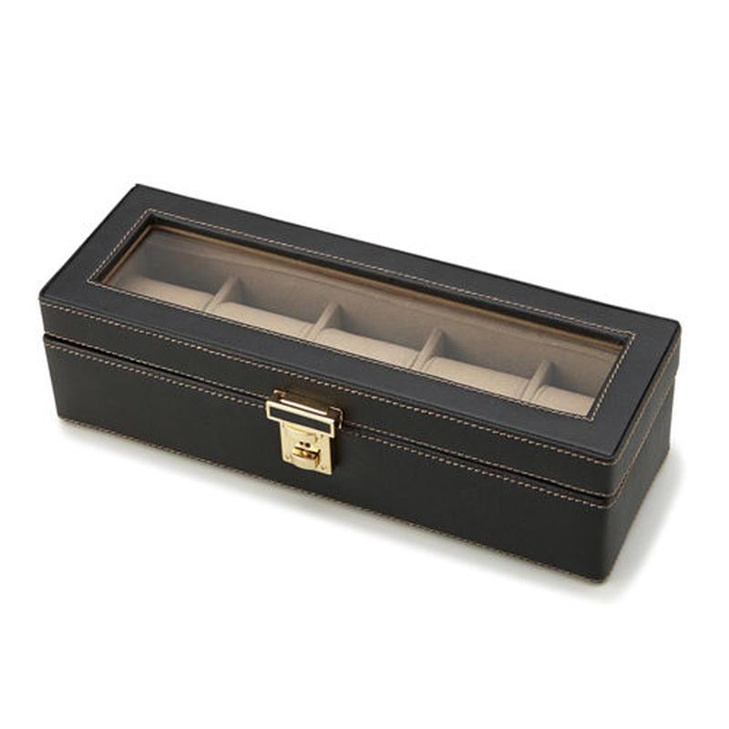 【Stationery Collection】ウォッチケース(5本用)★時計を巻いて収納。コレクションケース☆