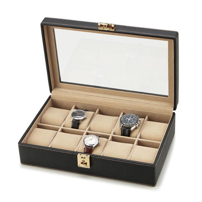 【Stationery Collection】ウォッチケース(10本用)★時計を巻いて収納。コレクションケース☆