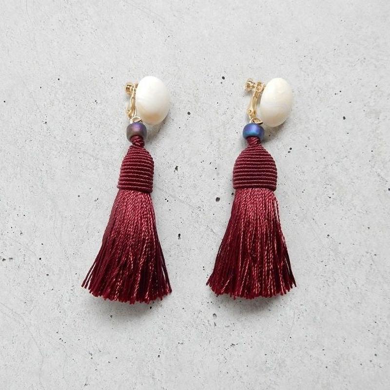 earrings-02250 タイプ250 ハンドメイド 日本製 タッセル仕様 ボリュームパーツイヤリング ☆WA04