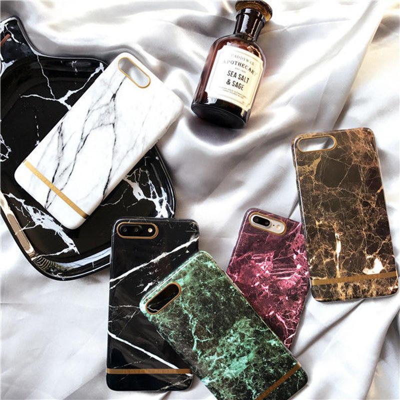 iphone-02235 送料無料! ゴールドライン 大理石柄 マーブル柄 天然石柄 ストーン柄 iPhoneケース