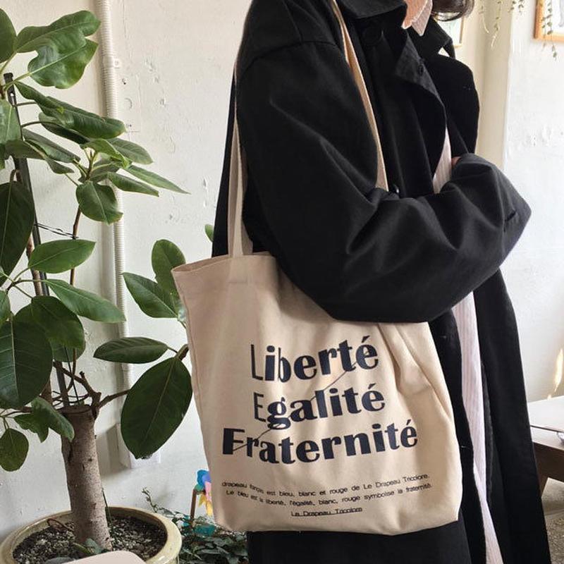 bag2-02275 送料無料! Liberte Egalite Fraternite Tote Bag トートバッグ エコバッグ