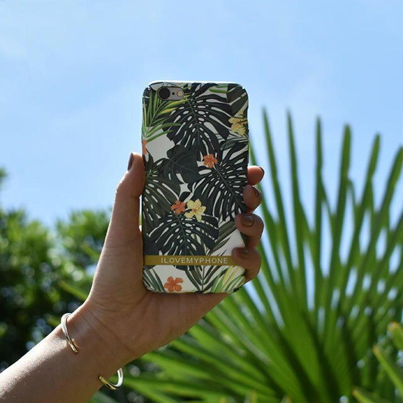 iphone-02469 送料無料!  トロピカル リーフ マットな質感 iPhoneケース