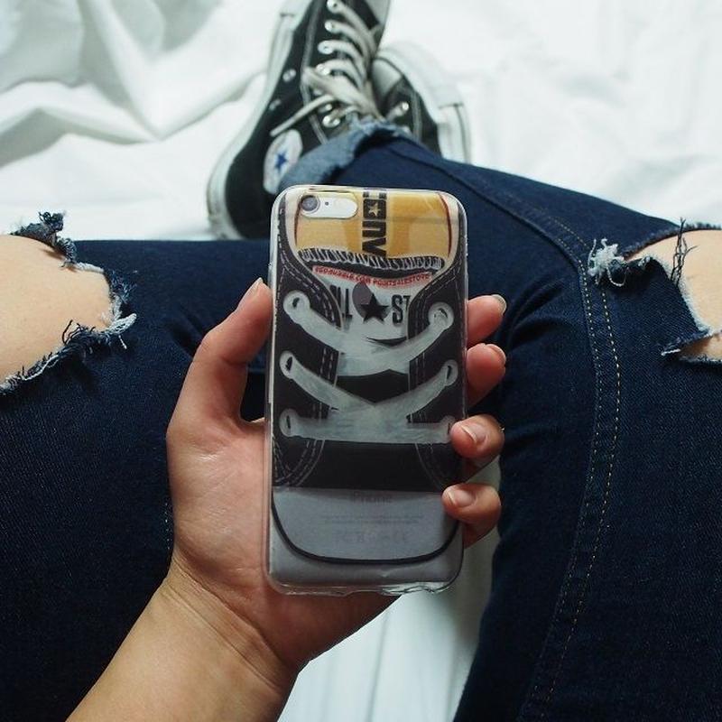 iphone-02160 送料無料! オールスター スニーカーデザイン クリア iPhoneケース