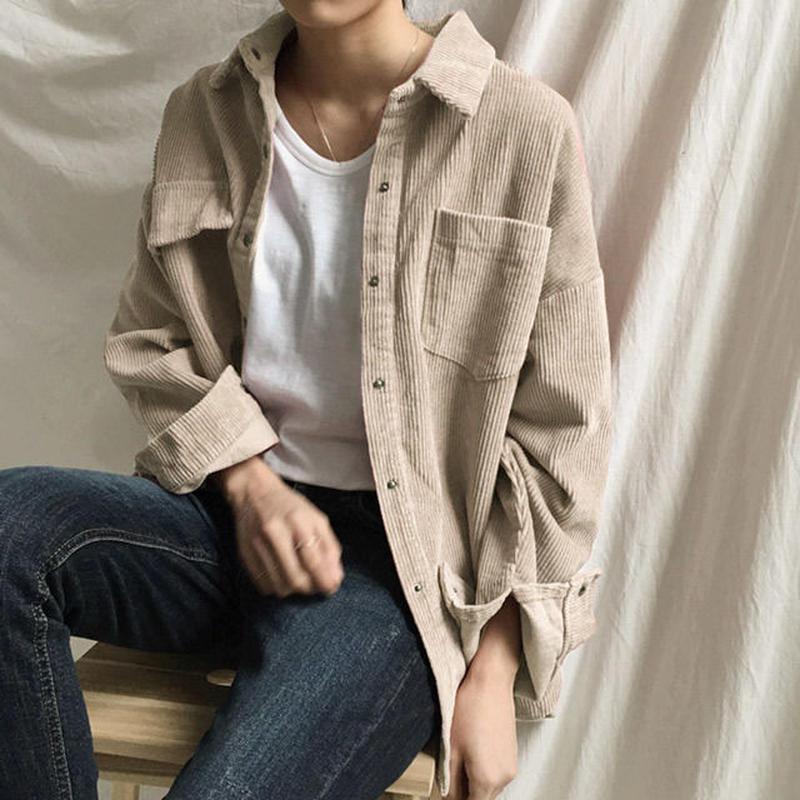 3月中旬~3月下旬入荷分 予約販売  tops-02012 コーデュロイシャツ ベージュ