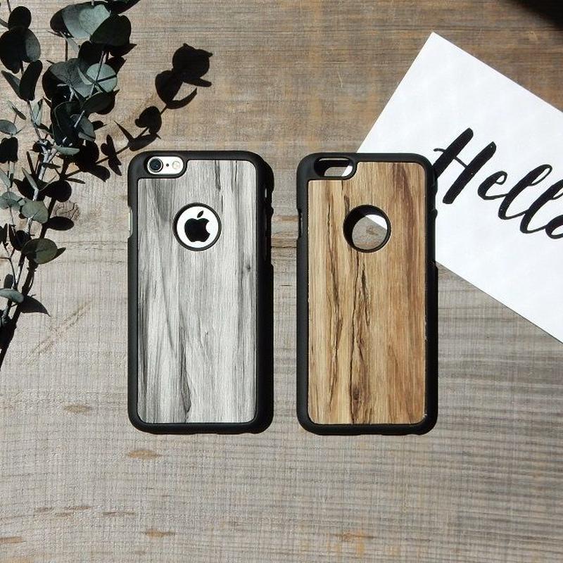 iphone-02167 送料無料! ブラックフレーム ウッドデザイン マット素材 iPhoneケース