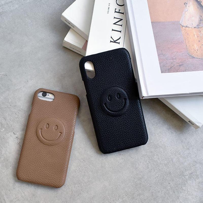 iphone-02502 送料無料! フェイクレザー シンプルニコちゃん iPhoneケース