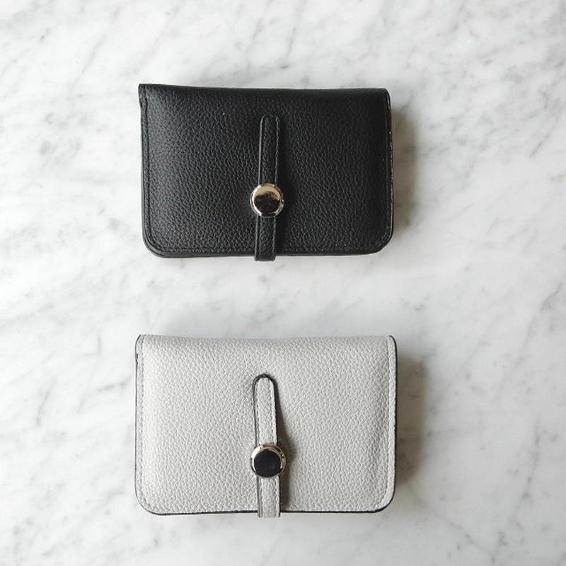 wallet-02024 ベルト止め ミニ財布 小銭入れ付き 二つ折り ミニウォレット