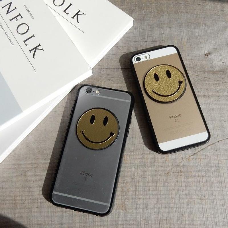 iphone-02215 送料無料! ゴールドニコちゃん ブラックバンパー クリアケース iPhoneケース