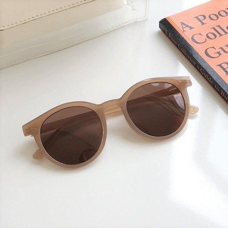 sunglasses-02040 ベージュフレーム サングラス