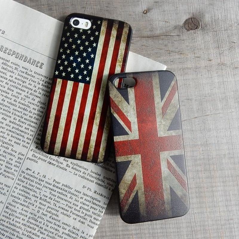 iphone-02217 送料無料! アメリカ国旗 イギリス国旗 US UK iPhoneケース