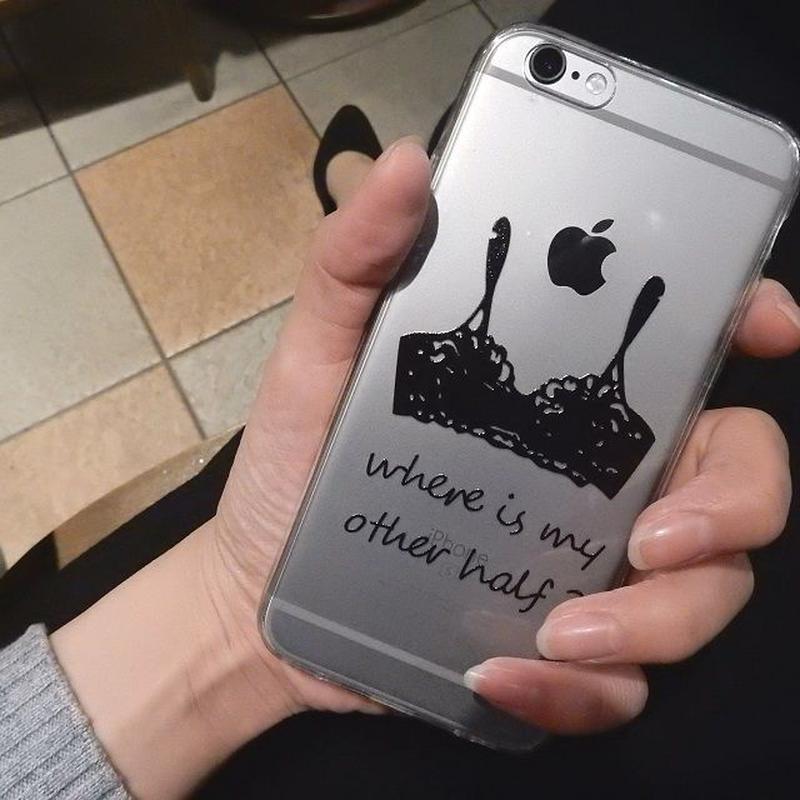 iphone-02077 送料無料! タイプ2 ランジェリー  クリアケース iPhoneケース