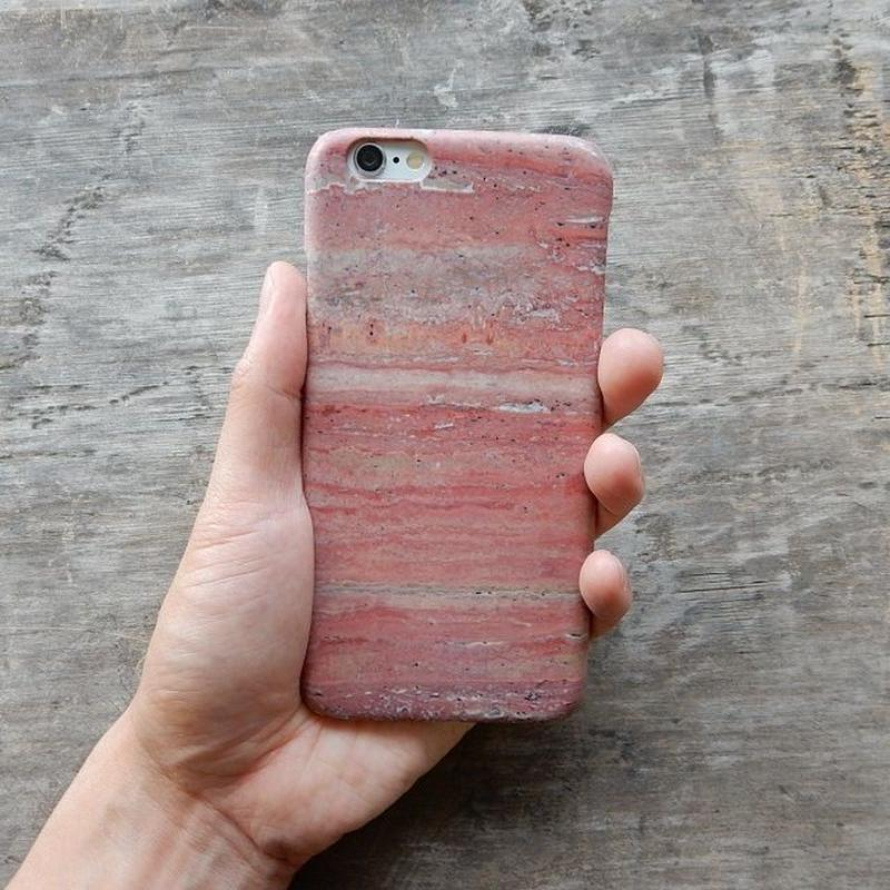 iphone-02163 送料無料! ピンク 天然石 大理石 iPhoneケース