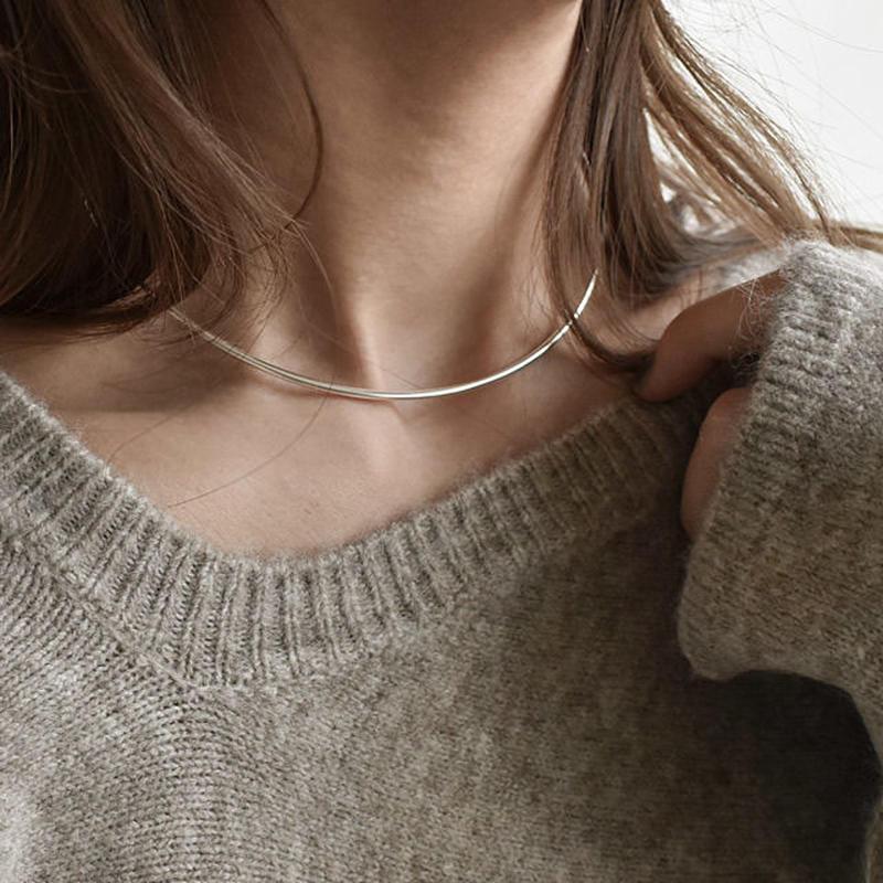 necklace2-02022 送料無料! SV925 ネックチョーカーカフ シルバー925