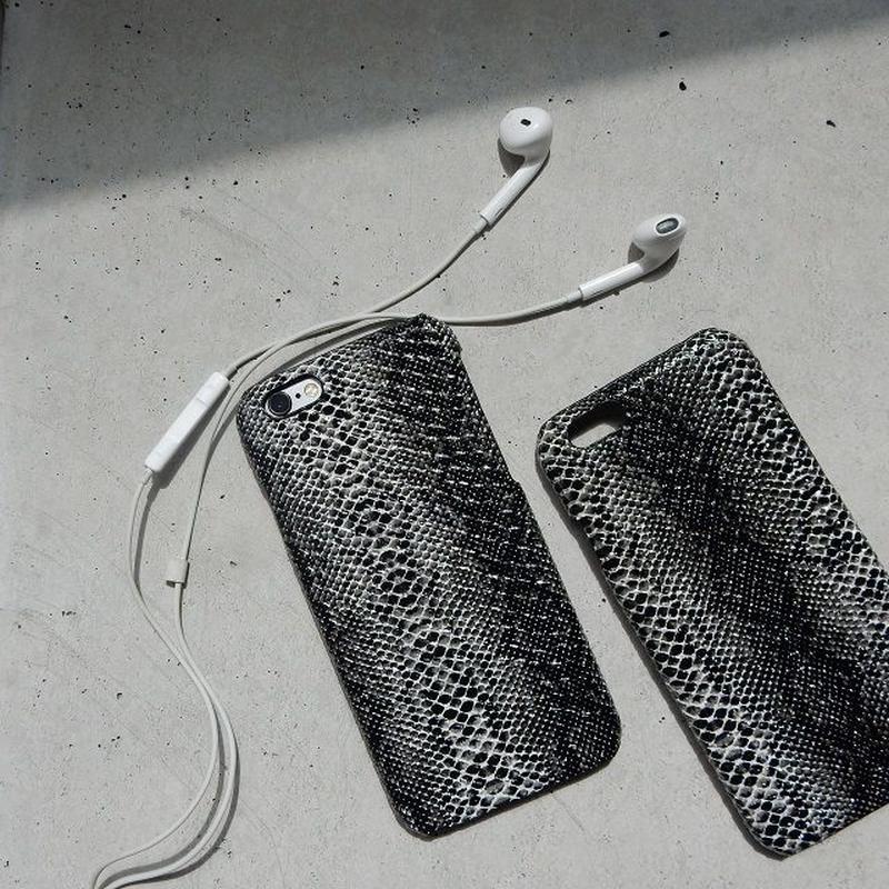 iphone-02223 送料無料! ブラック パイソン柄 iPhoneケース