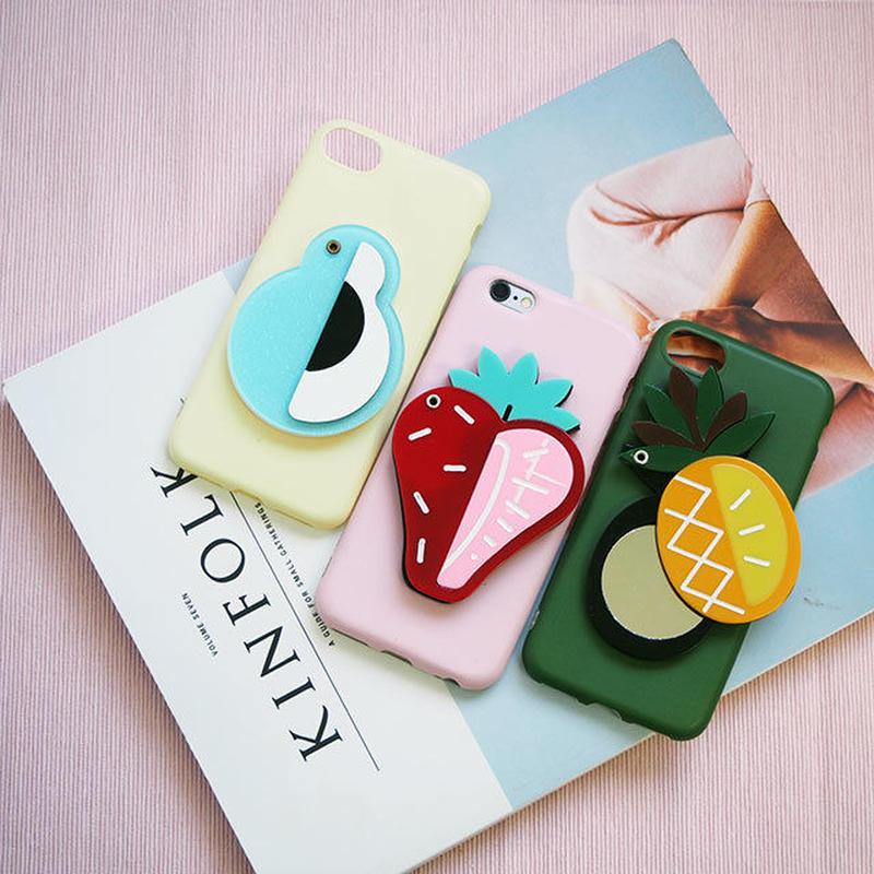 iphone-02447 送料無料! トロピカルフルーツ ミラー付き iPhoneケース