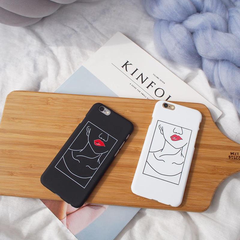 iphone-02401 送料無料! イラスト風 デザイン リップ iPhoneケース