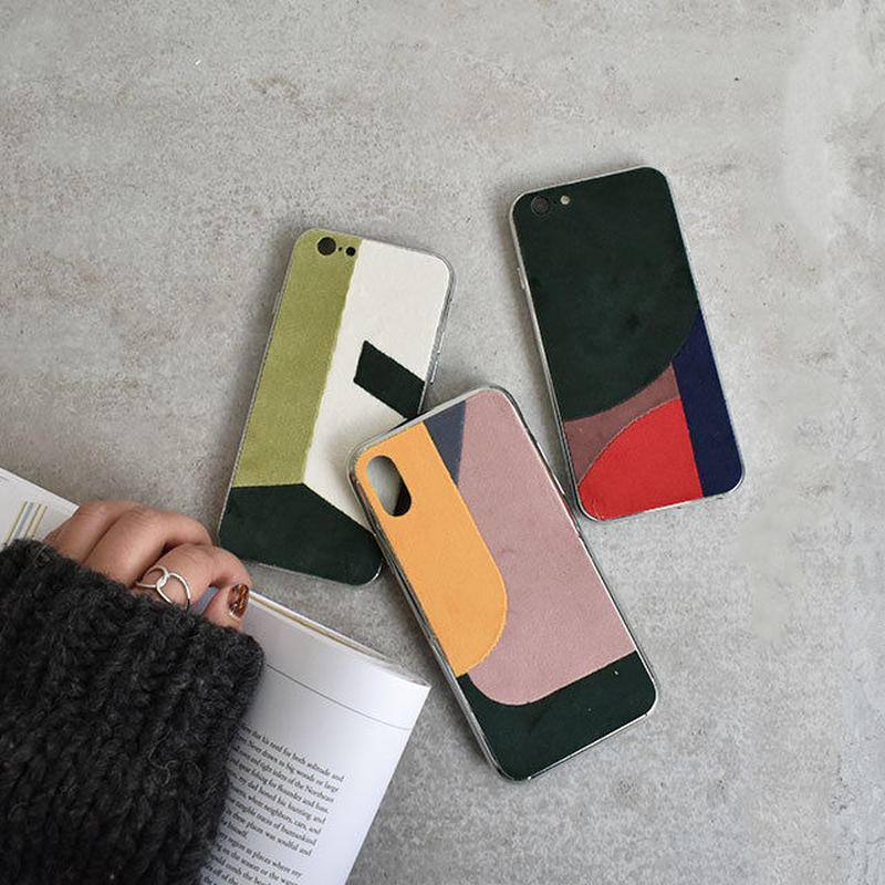 iphone-02512 送料無料! ベロア パッチワーク iPhoneケース