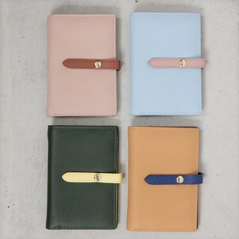 wallet-02031 本革レザー ツートンカラーデザイン ミニ財布 小銭入れ付き 二つ折り ミニウォレット
