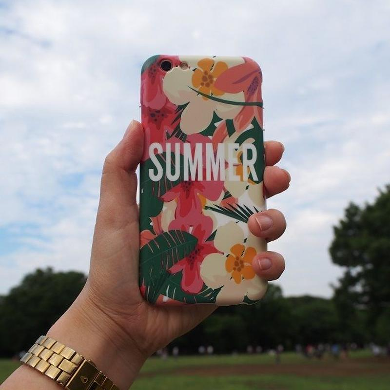 iphone-02152 送料無料! SUMMER フラワー×リーフ  iPhoneケース