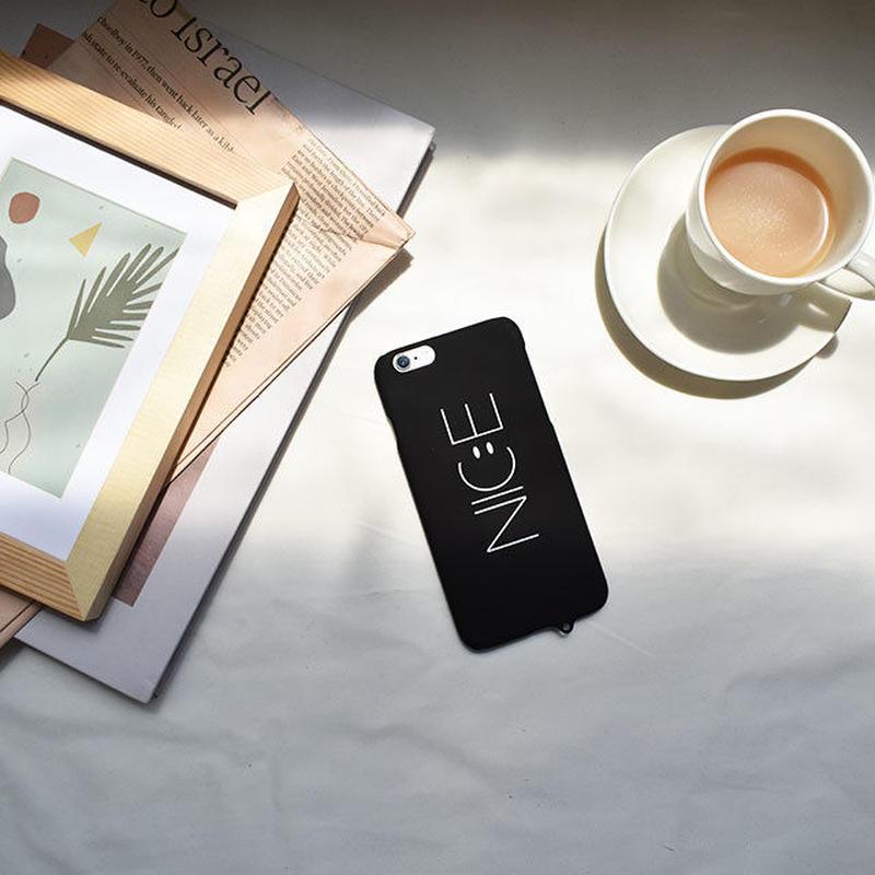 iphone-02460 送料無料! NICE ブラック ストラップホール付き iPhoneケース