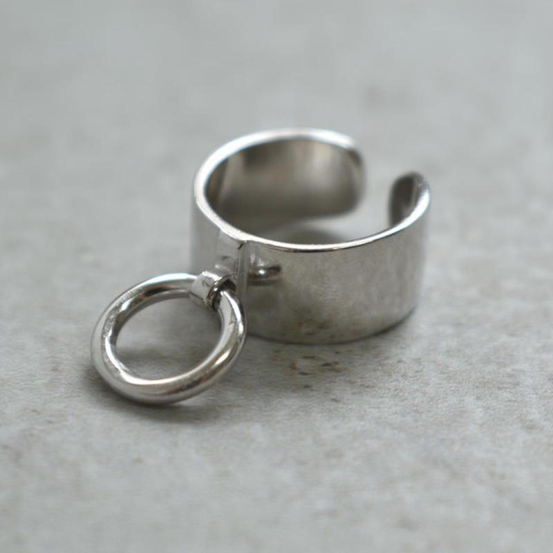 ring-02136 SV925 リング付きワイドシルバーリング 幅9mm 12号から上にサイズ調整可能