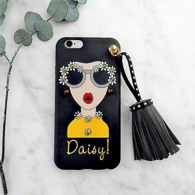 iphone-02283  送料無料! タイプA Daisy オシャレガール スタッズ タッセル付き iPhoneケース