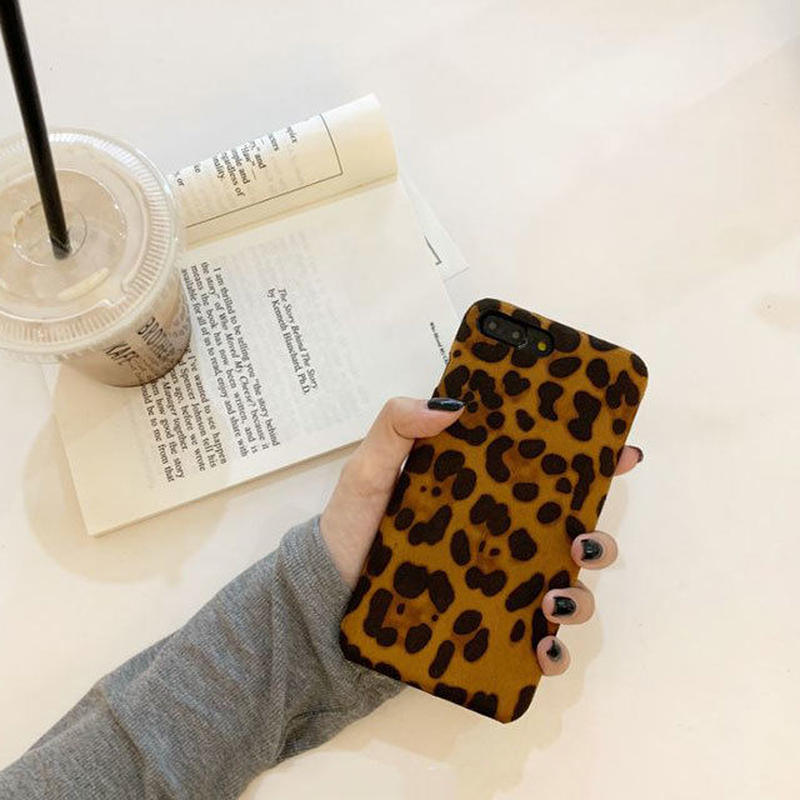 iphone-02509 送料無料! 起毛素材 レオパード柄 ヒョウ柄 iPhoneケース