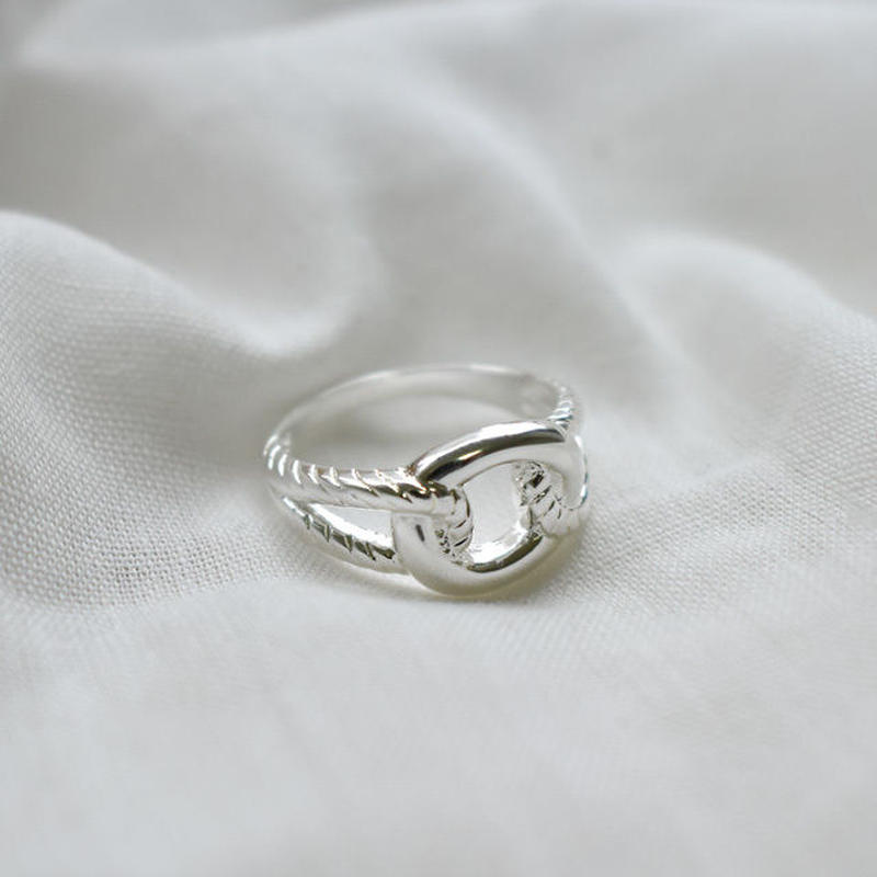 ring2-02016 送料無料! SV925コーティング ロープ&リングデザインリング