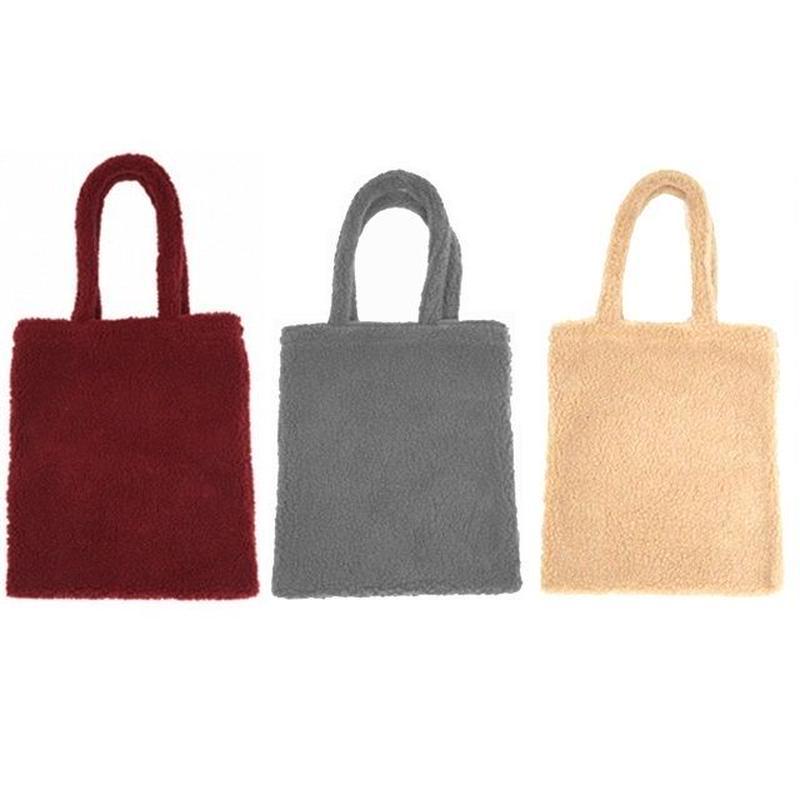 bag2-02125 ボアトートバッグ ボアバッグ ボアショッピングバッグ