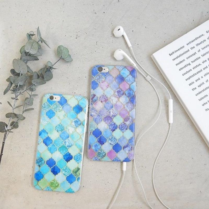 iphone-02143 送料無料! モロッカン柄 モザイクタイル モロッコタイル iPhoneケース