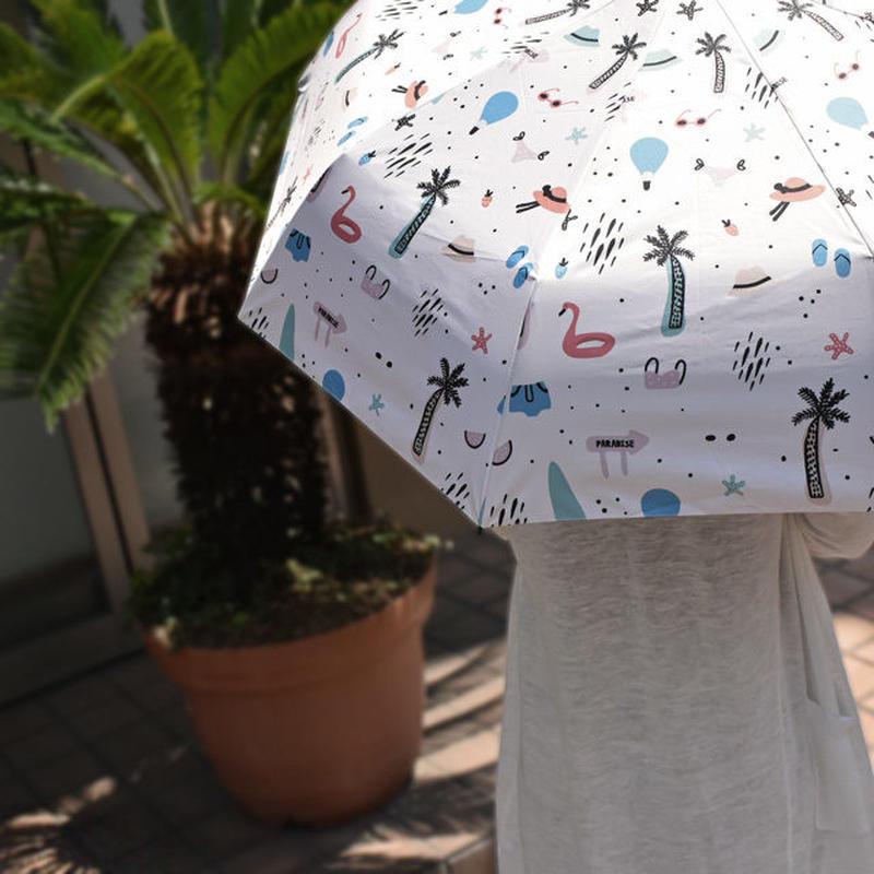 raingoods-02020 ポップサマーデザイン 折りたたみ傘 日傘 雨傘 晴雨兼用