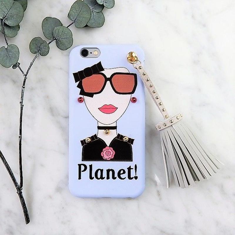 iphone-02284 送料無料! タイプB Planet! オシャレガール  スタッズ  タッセル付き iPhoneケース