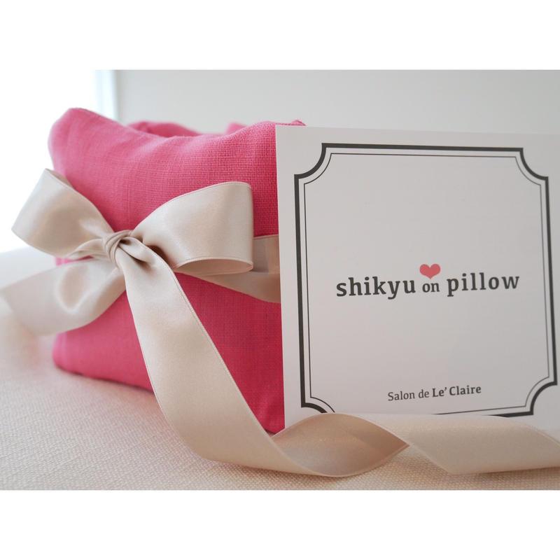 【妊活スタートBOOK掲載】子宮温pillow  Peach Pink / ピーチピンク