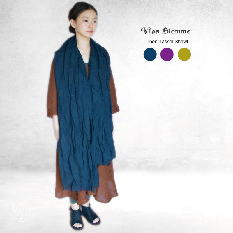 Vlas Blomme(ヴラスブラム)  リネン × タッセル ショール(13608681)