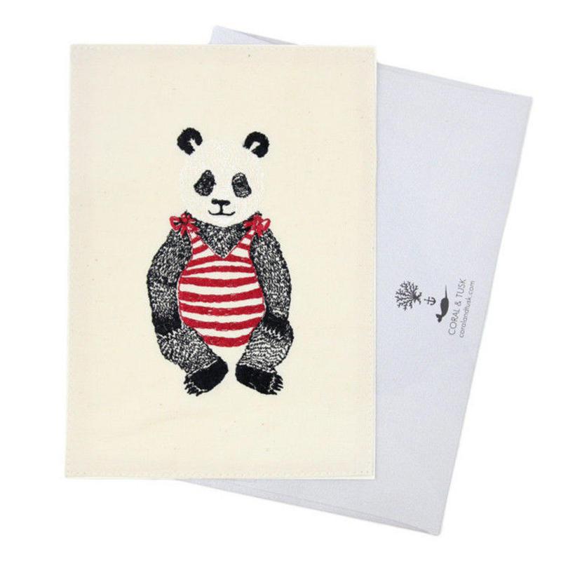 [お届けは4月中旬頃の予定です-ご予約販売]  Coral & Tusk/コーラル・アンド・タスク「 Panda Bear」グリーティングカード