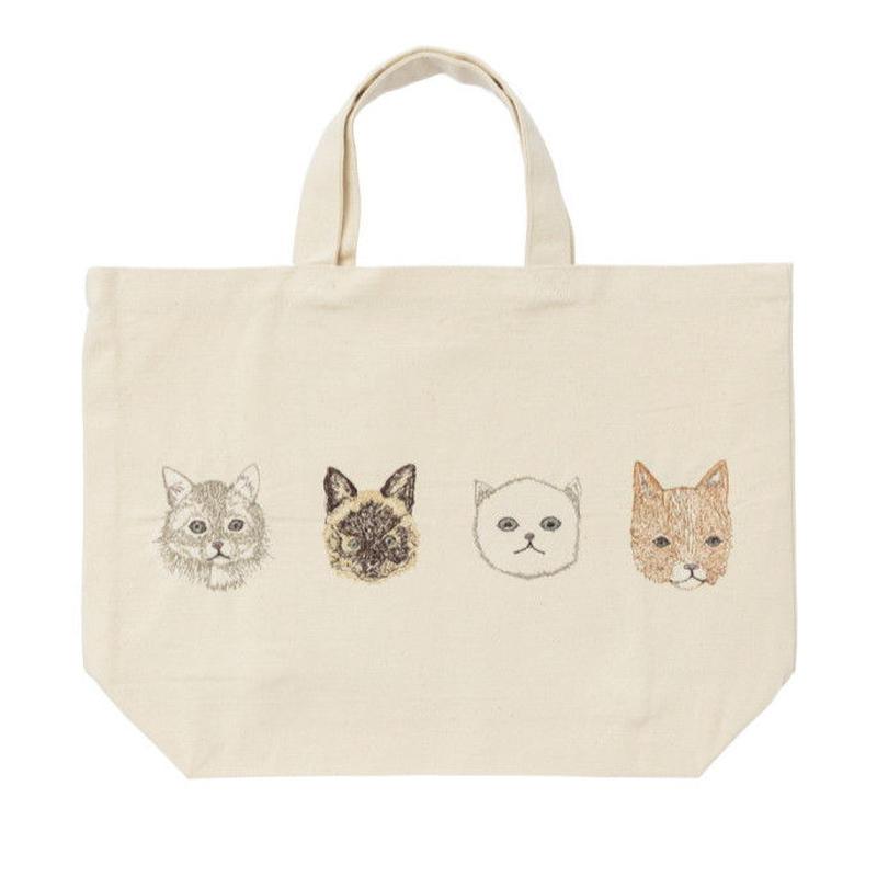 [お届けは4月中旬頃の予定です-ご予約販売] Coral & Tusk/コーラル・アンド・タスク「Cat Portraits Tote」猫モチーフ刺繍トート