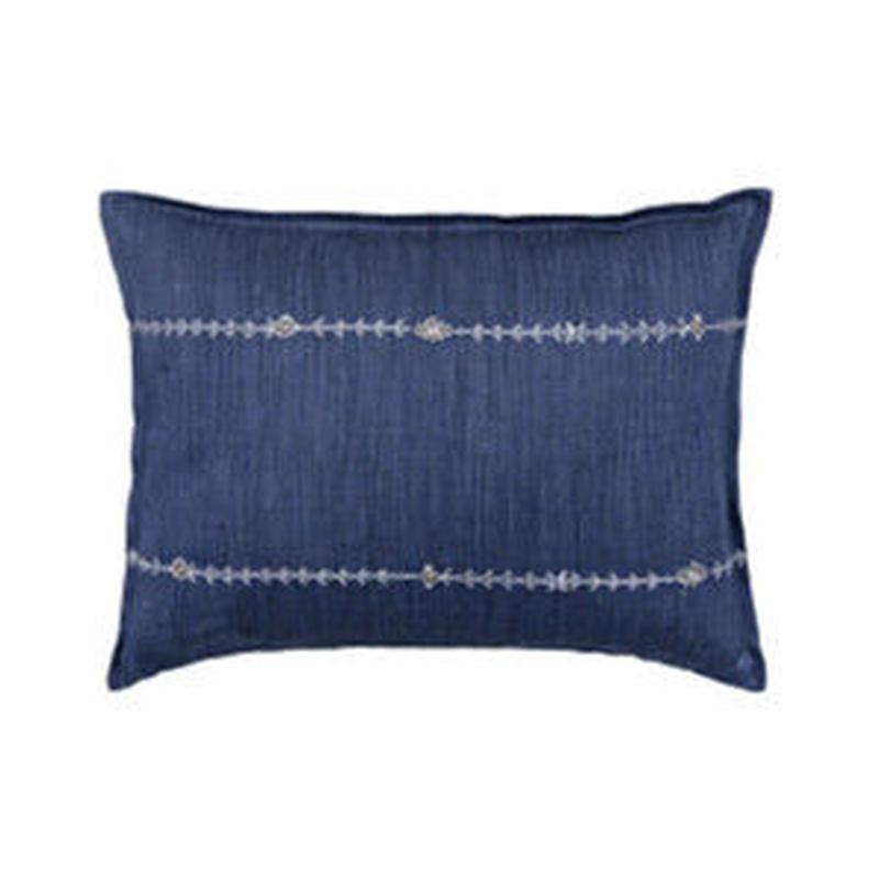 [お届けは4月中旬頃の予定です-ご予約販売]  Coral & Tusk/コーラル・アンド・タスク「 Stitch Stripe Indigo」クッション