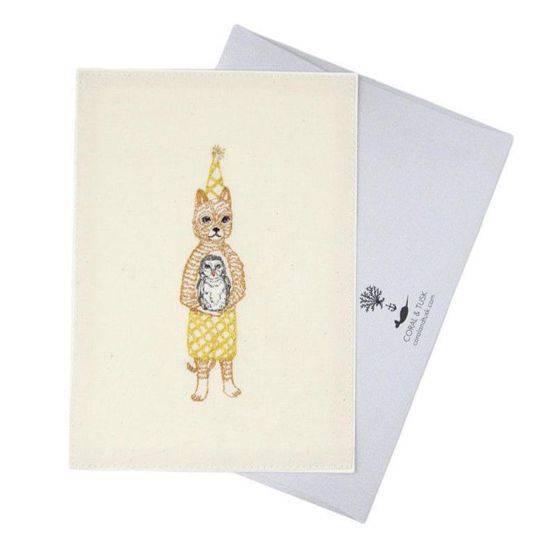 [お届けは4月中旬頃の予定です-ご予約販売] Coral & Tusk/コーラル・アンド・タスク「 Birthday Cat」グリーティングカード
